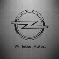 Наклейка Opel Wir leben Autos - FatLine