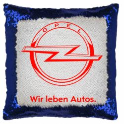 Подушка-хамелеон Opel Wir leben Autos