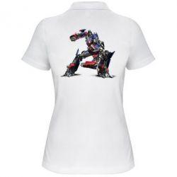 Женская футболка поло Оптимус Прайм