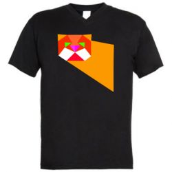 Чоловіча футболка з V-подібним вирізом Оrange cat