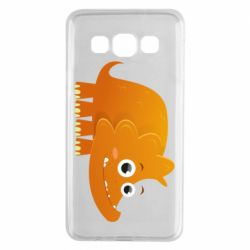 Чехол для Samsung A3 2015 Orange dinosaur