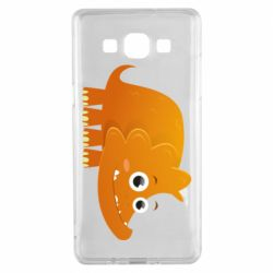 Чехол для Samsung A5 2015 Orange dinosaur