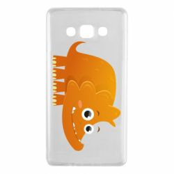 Чехол для Samsung A7 2015 Orange dinosaur
