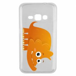 Чехол для Samsung J1 2016 Orange dinosaur