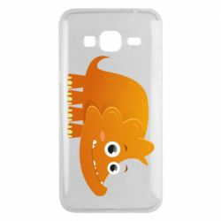 Чехол для Samsung J3 2016 Orange dinosaur