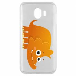 Чехол для Samsung J4 Orange dinosaur