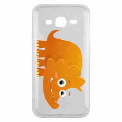 Чехол для Samsung J5 2015 Orange dinosaur