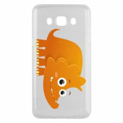 Чехол для Samsung J5 2016 Orange dinosaur