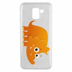 Чехол для Samsung J6 Orange dinosaur