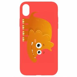Чехол для iPhone XR Orange dinosaur