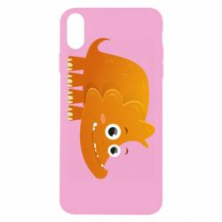 Чехол для iPhone Xs Max Orange dinosaur