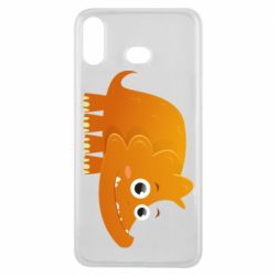 Чехол для Samsung A6s Orange dinosaur