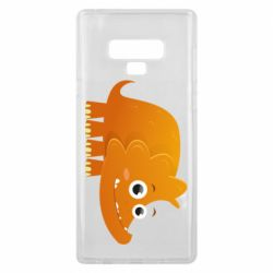 Чехол для Samsung Note 9 Orange dinosaur