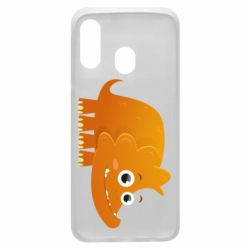 Чехол для Samsung A40 Orange dinosaur