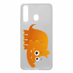 Чехол для Samsung A60 Orange dinosaur