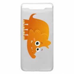 Чехол для Samsung A80 Orange dinosaur