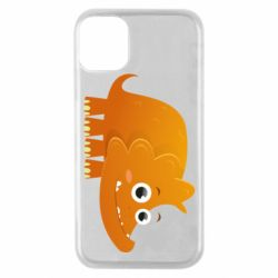 Чехол для iPhone 11 Pro Orange dinosaur