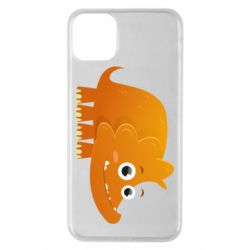 Чехол для iPhone 11 Pro Max Orange dinosaur