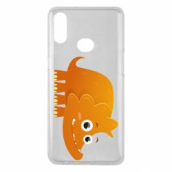 Чехол для Samsung A10s Orange dinosaur