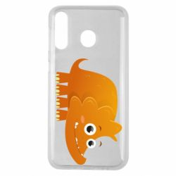 Чехол для Samsung M30 Orange dinosaur