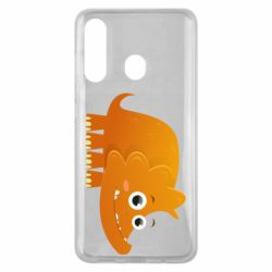 Чехол для Samsung M40 Orange dinosaur