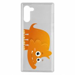 Чехол для Samsung Note 10 Orange dinosaur