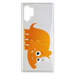 Чехол для Samsung Note 10 Plus Orange dinosaur