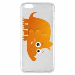 Чехол для iPhone 6 Plus/6S Plus Orange dinosaur