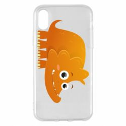Чехол для iPhone X/Xs Orange dinosaur