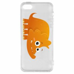 Чехол для iPhone5/5S/SE Orange dinosaur