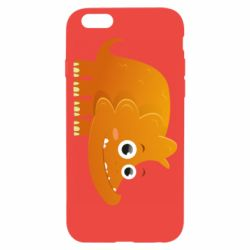 Чехол для iPhone 6/6S Orange dinosaur