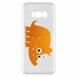 Чехол для Samsung S8 Orange dinosaur
