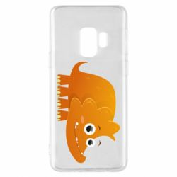 Чехол для Samsung S9 Orange dinosaur