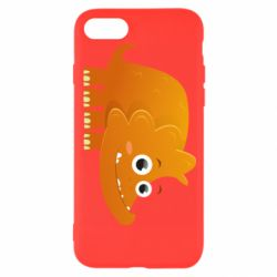 Чехол для iPhone 8 Orange dinosaur