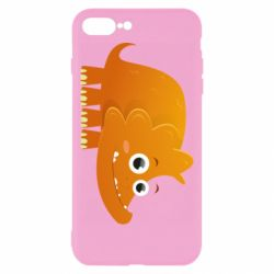 Чехол для iPhone 8 Plus Orange dinosaur