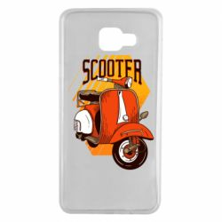 Чохол для Samsung A7 2016 Orange scooter