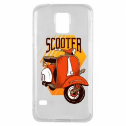 Чохол для Samsung S5 Orange scooter