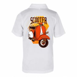 Дитяча футболка поло Orange scooter
