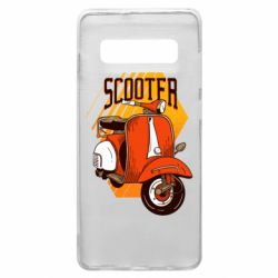 Чохол для Samsung S10+ Orange scooter
