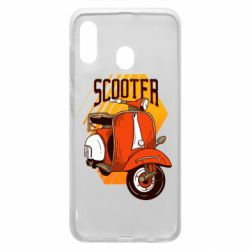 Чохол для Samsung A20 Orange scooter