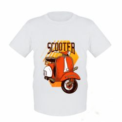 Дитяча футболка Orange scooter