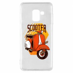 Чохол для Samsung A8 2018 Orange scooter