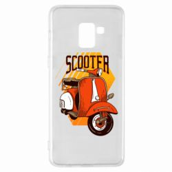 Чохол для Samsung A8+ 2018 Orange scooter