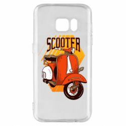 Чохол для Samsung S7 Orange scooter