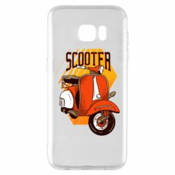 Чохол для Samsung S7 EDGE Orange scooter