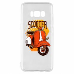 Чохол для Samsung S8 Orange scooter