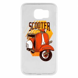 Чохол для Samsung S6 Orange scooter