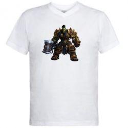 Мужская футболка  с V-образным вырезом Orc
