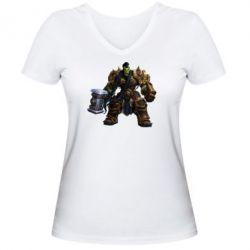 Женская футболка с V-образным вырезом Orc