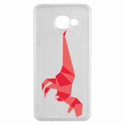 Чехол для Samsung A3 2016 Origami dinosaur